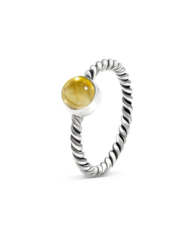 Nova 925 Sterling Silver Ring Citrine