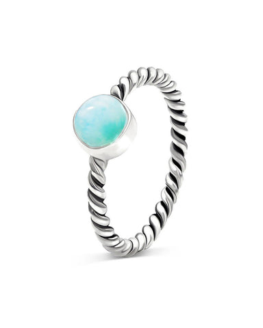 Nova 925 Sterling Silver Ring Larimar