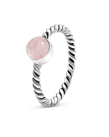 Nova 925 Sterling Silver Ring Rose Quartz