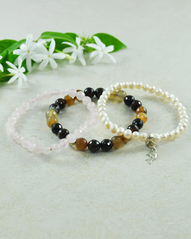 Save Our Seas Dolphin Mini Gemstone Bracelet Set