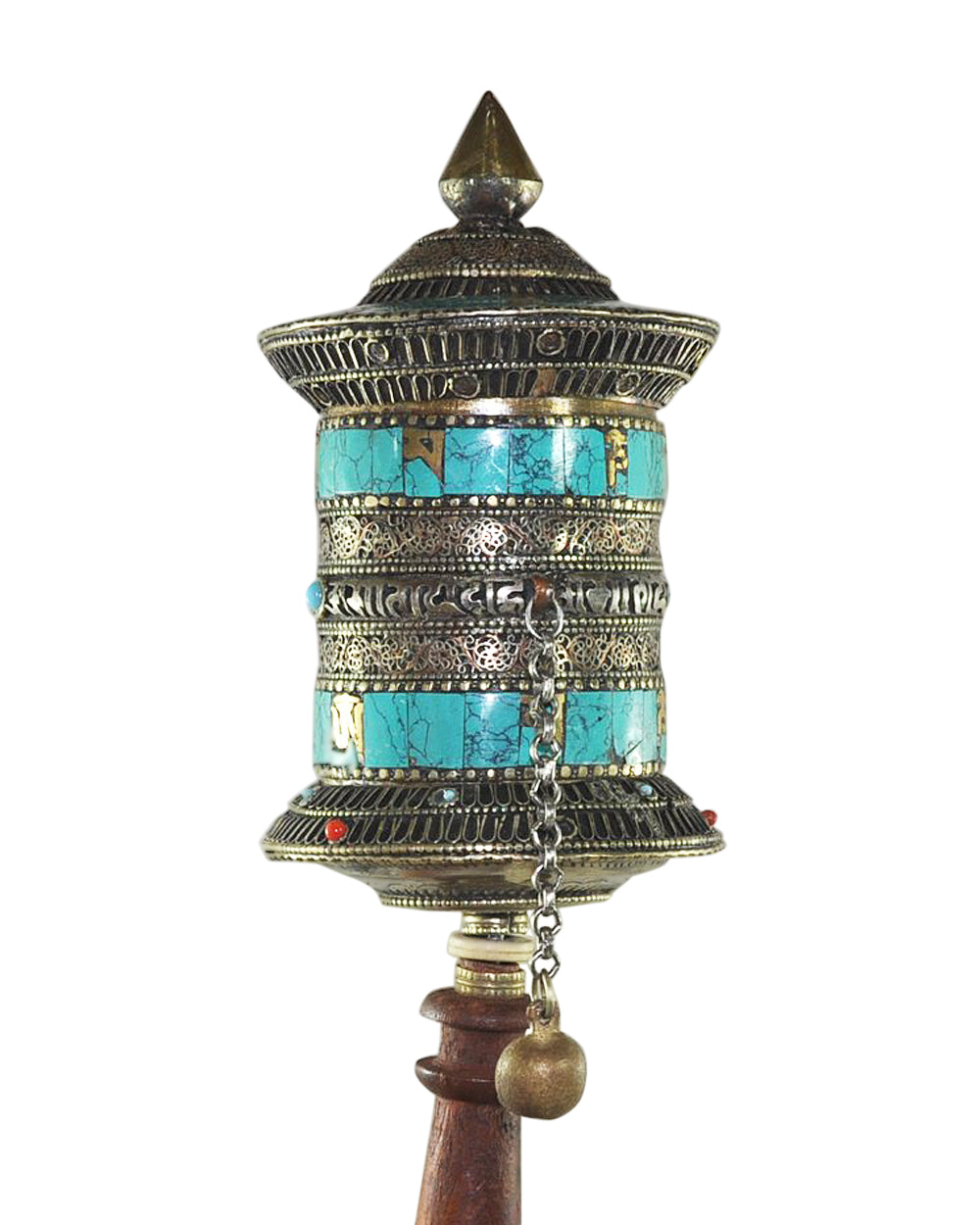 One of a Kind Dharma Om Mani Padme Hum Mantra Tibetan Prayer Wheel - Collector Item