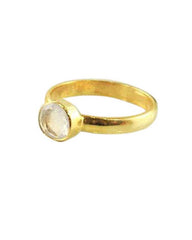 Power Gemstone Ring for Calmness Gold Vermeil - Moonstone