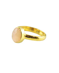 Power Gemstone Ring for Confidence in Gold Vermeil - Rhodonite