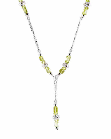 Purification Peridot Sterling Silver Necklace