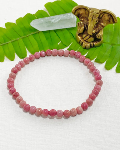 Rhodochrosite Mini Gemstone Energy Bracelet