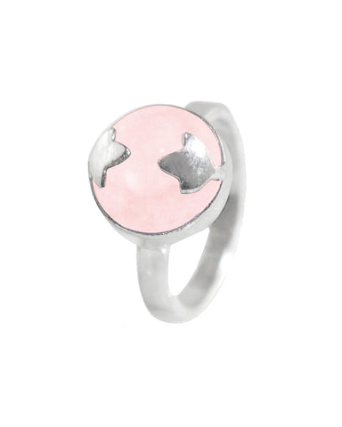Rose Quartz Spellbinder Ring in 925 Sterling Silver