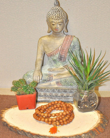 Sandalwood 108 Beads Buddhist Meditation Mala