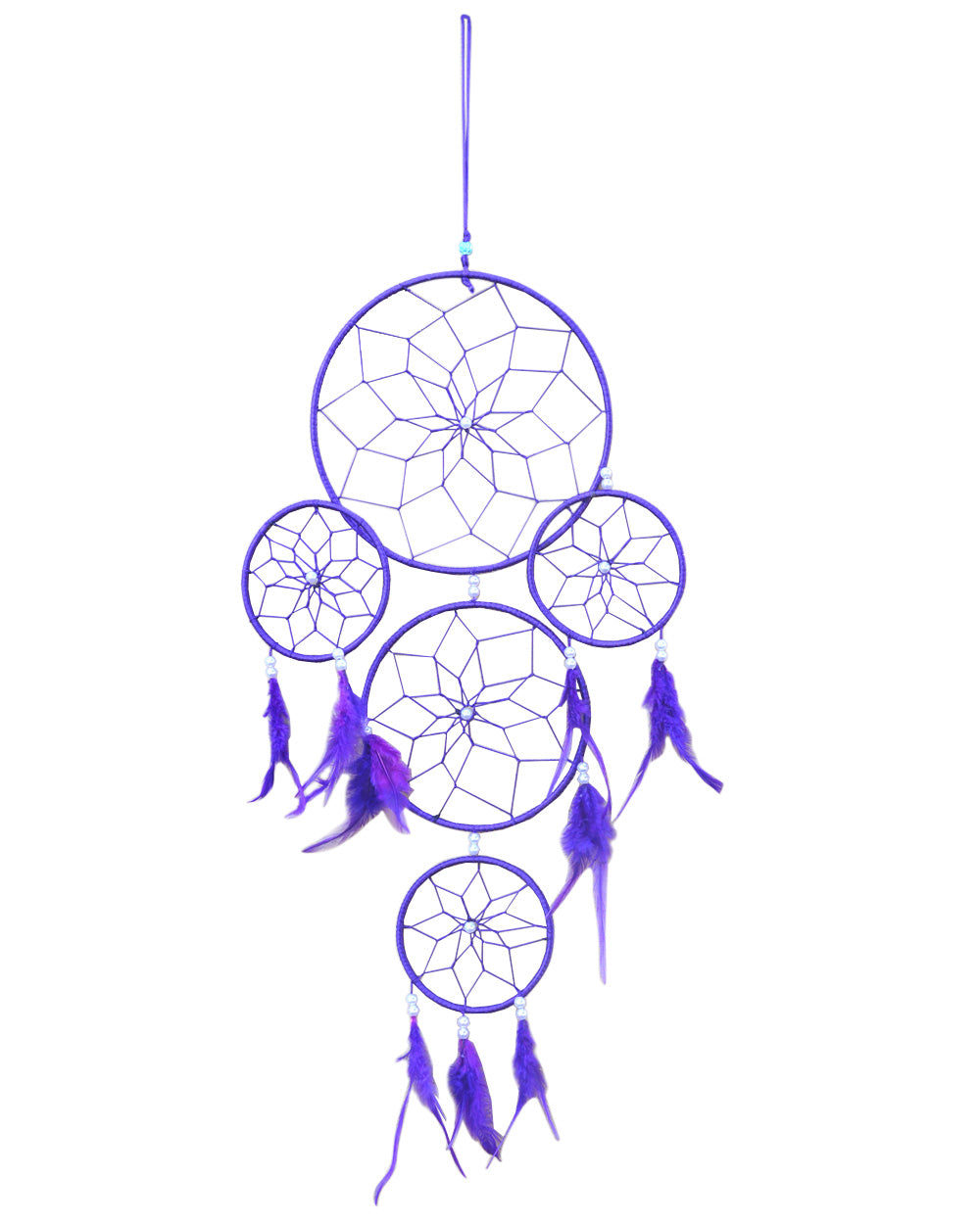 Silk Thread and Feathers Dream Catcher Large