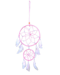 Silk Thread and Feathers Dream Catcher Medium