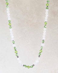 Abundance Green Crystals and Moonstone Necklace