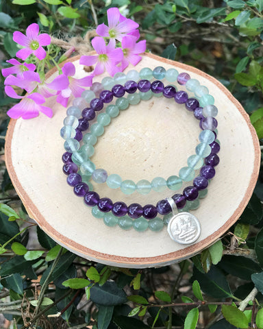 Abundance and Prosperity Bracelet Set Sterling Silver