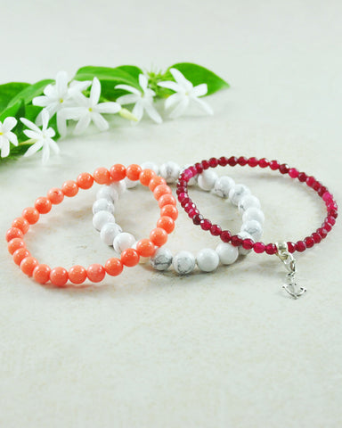 Fearless Journey Mini Gemstone Bracelet Set
