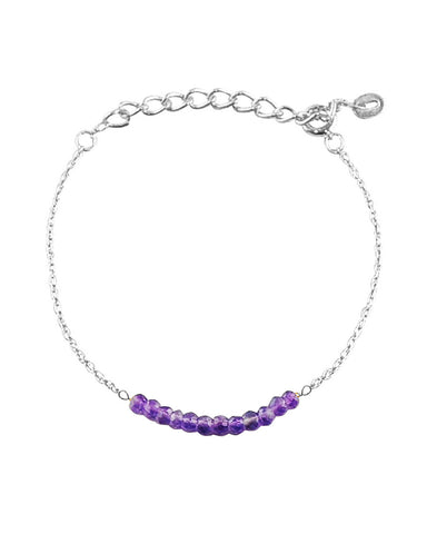 Arise Amethyst Bar Bracelet