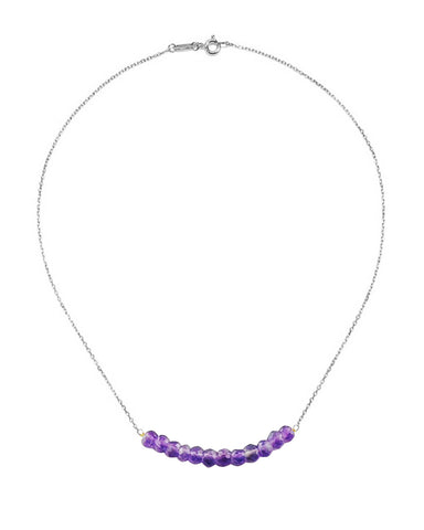 Arise Amethyst Bar Necklace