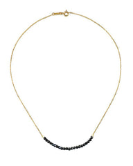 Arise Black Spinel Bar Necklace