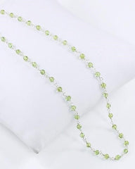 Benevolent Peridot Sterling Silver Necklace