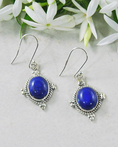 Bhakti Lapis Lazuli Earrings in Sterling Silver