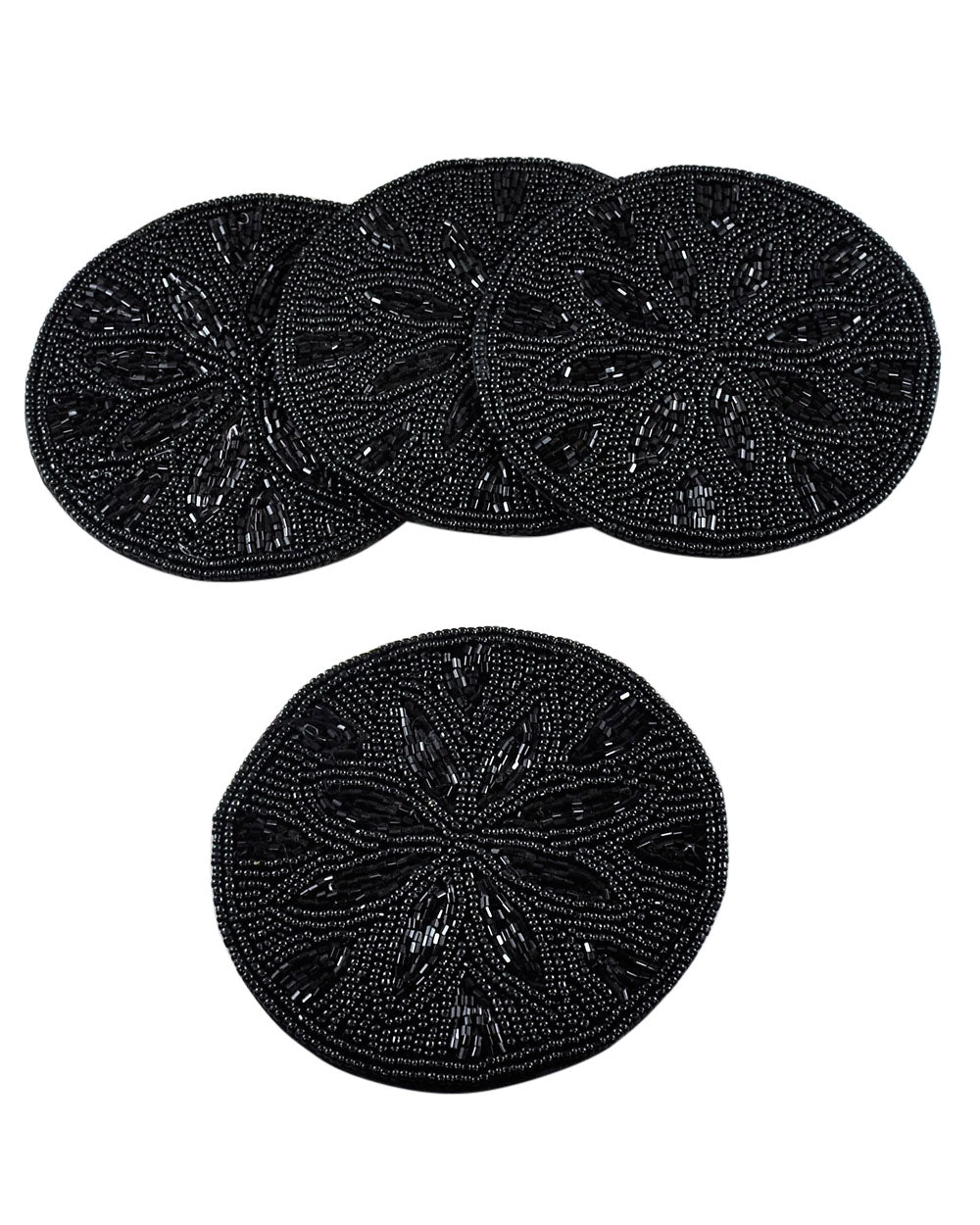 Black Beads Coaster Set of 4