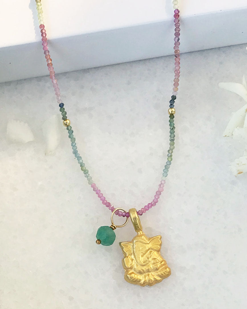 Blessed Success Necklace Gold Vermeil