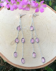 Bright Beginnings Amethyst Earrings Sterling Silver