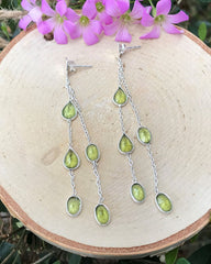 Bright Beginnings Peridot Earrings Sterling Silver