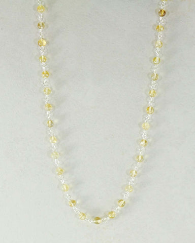 Brilliance Citrine Sterling Silver Necklace