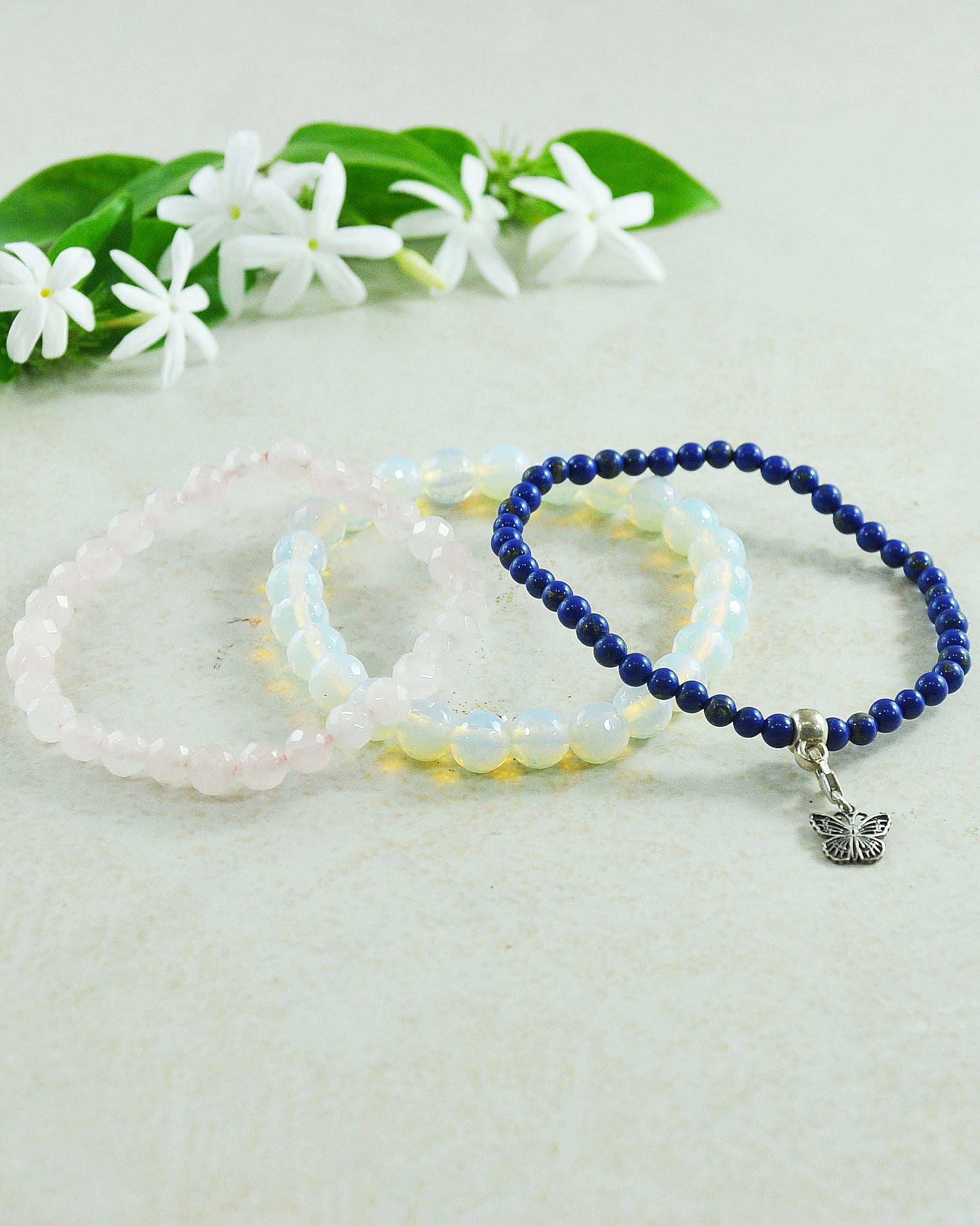 Miracle of Transformation Mini Gemstone Bracelet Set