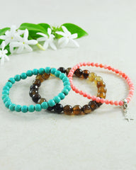 Celestial Star Stretch Mini Gemstone Bracelet Set