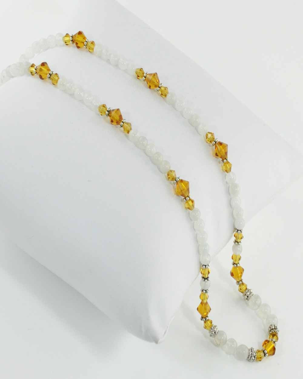 Confidence Moonstone and Yellow Crystals Necklace
