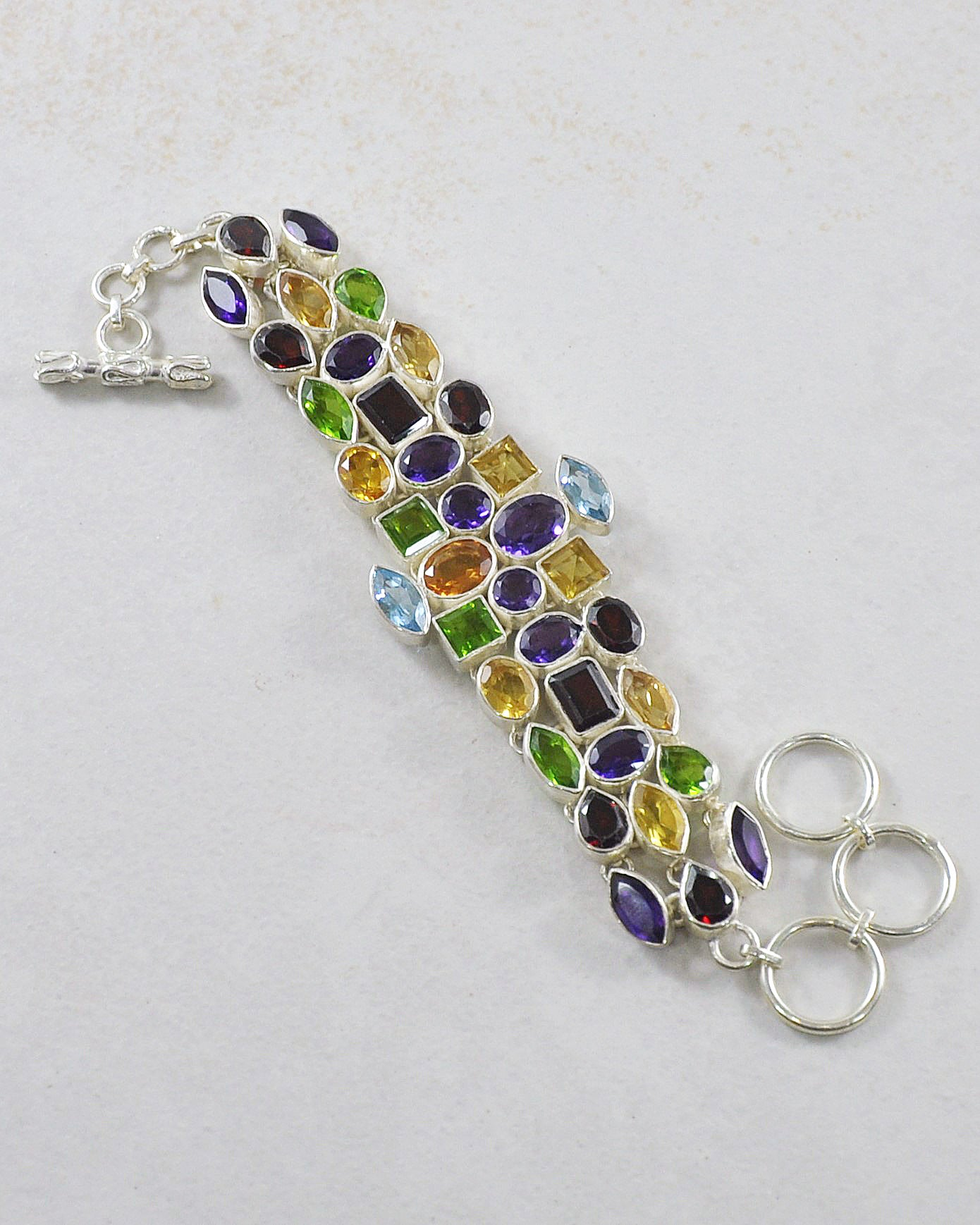 Constellation Multi Gemstone Bracelet in 925 Sterling Silver