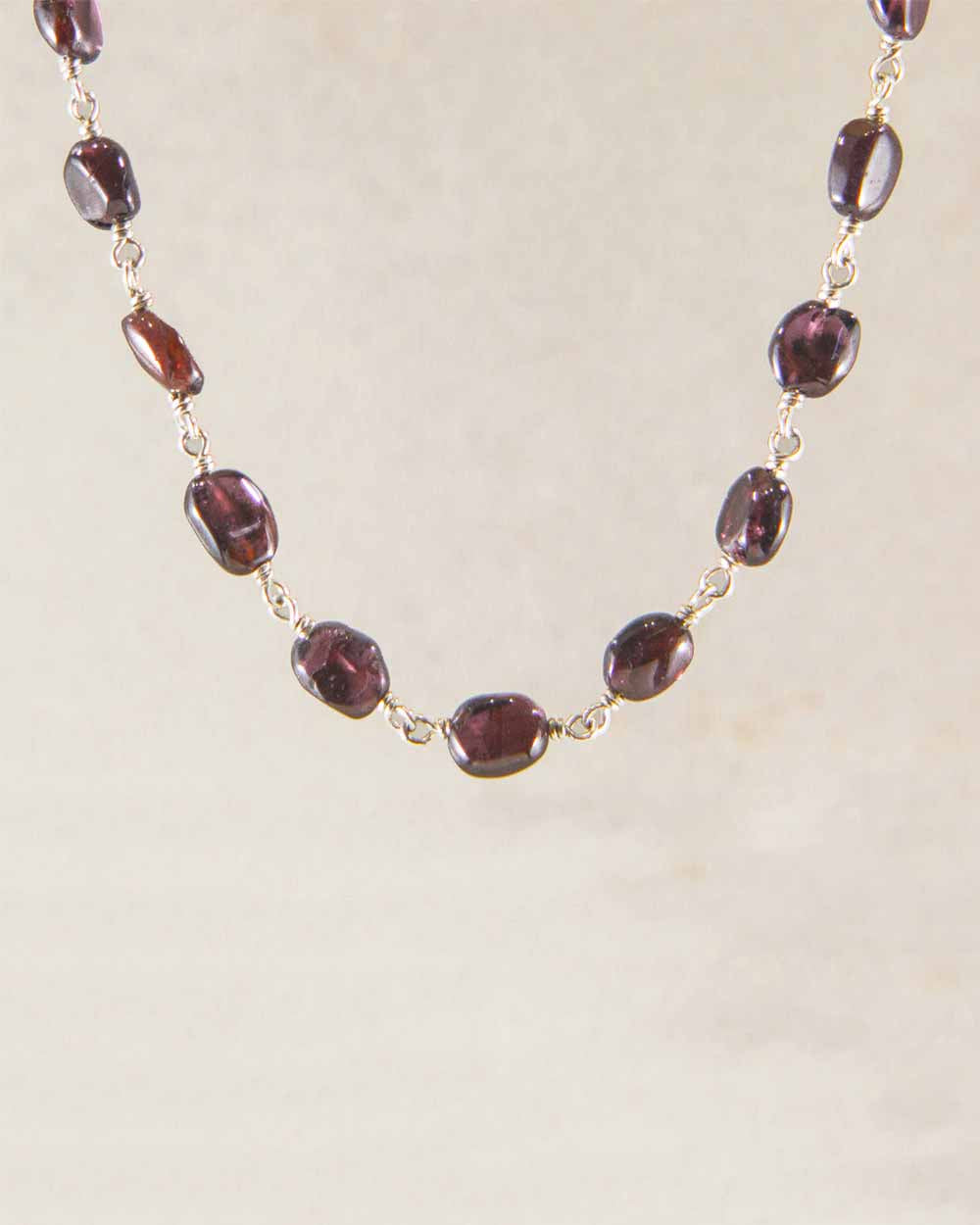 Divine Guidance Garnet Sterling Silver Necklace