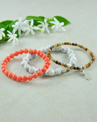 Divine Light Mini Gemstone Bracelet Set