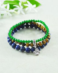 Dog Lovers Paw Mini Gemstone Bracelet Set