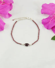 Empowered Garnet Bracelet - Guidance