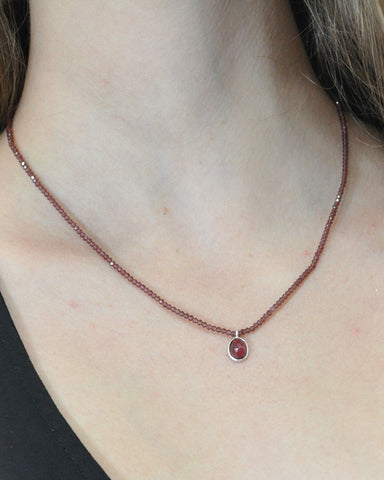Empowered Garnet Necklace - Guidance