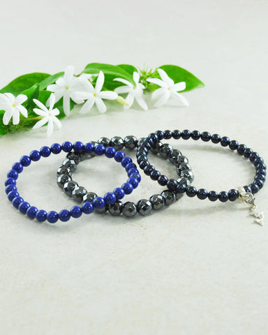 Ocean Lovers DolphinMini Gemstone Bracelet Set