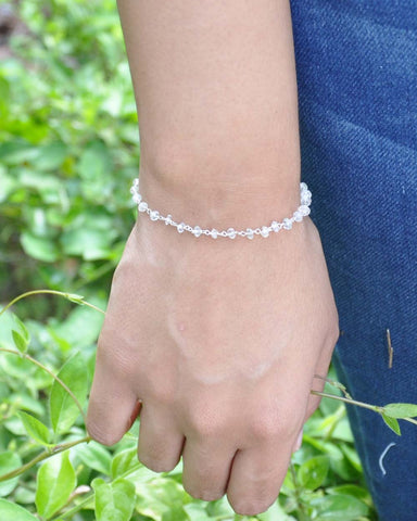 Illuminated Moonstone Sterling Silver Bracelet