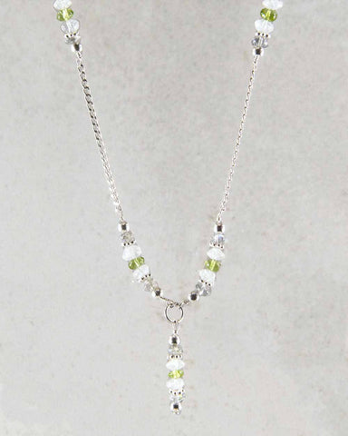 Infinite Joy Multi-Gem Sterling Silver Lariat Necklace