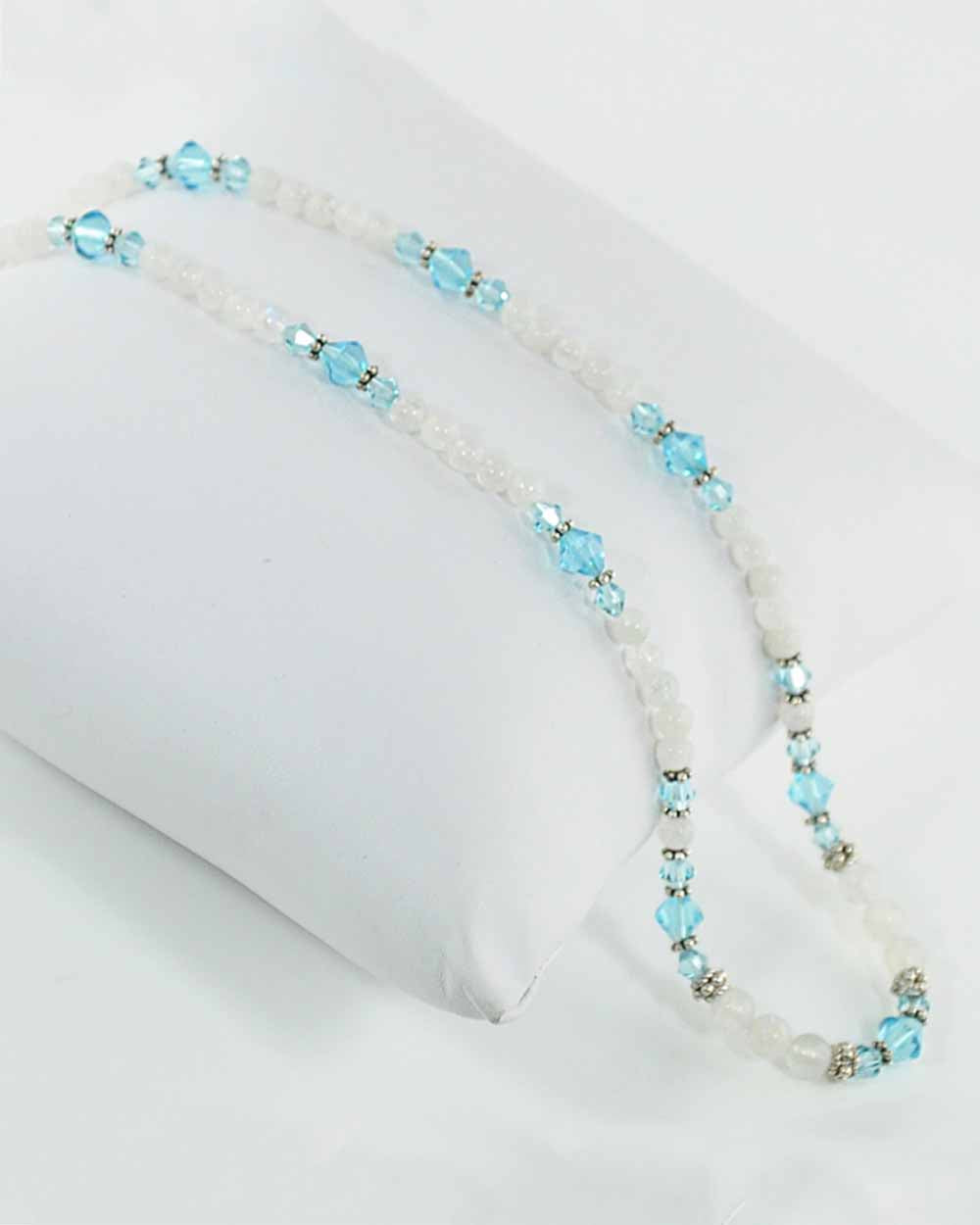 Inspiration Blue Crystals and Moonstone Necklace