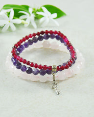 Key to True Love Mini Gemstone Bracelet Set