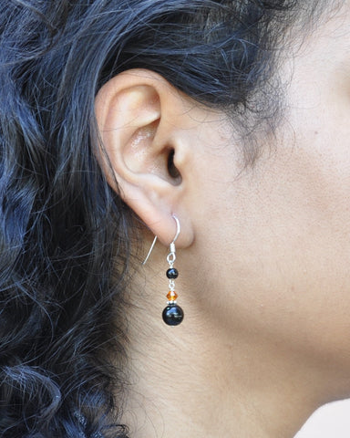Inspire Confidence Black Onyx Earrings Sterling Silver