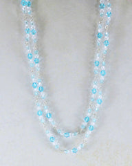 Manifest Balance Blue Crystals Layered Necklace