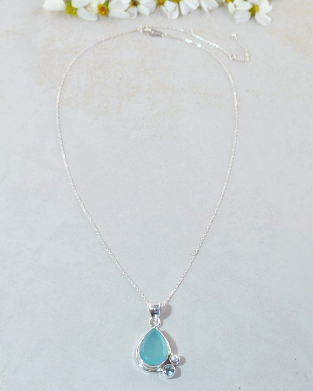 Mantra Peruvian Opal 925 Sterling Silver Pendant Necklace