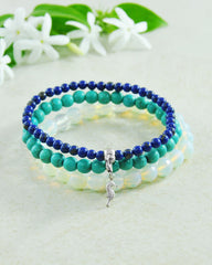 Marine Sea Horse Mini Gemstone Bracelet Set