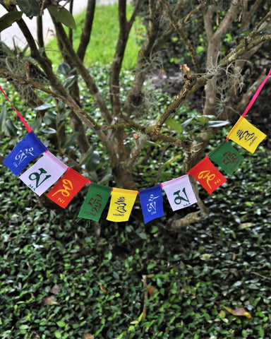 Om Mani Padme Hum Prayer Flags - Mini
