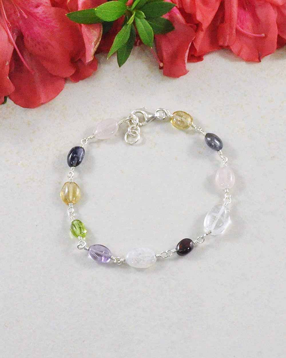 New Beginnings Multigem Sterling Silver Bracelet