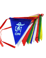 Om Mani Padme Hum Prayer Flags - Triangular