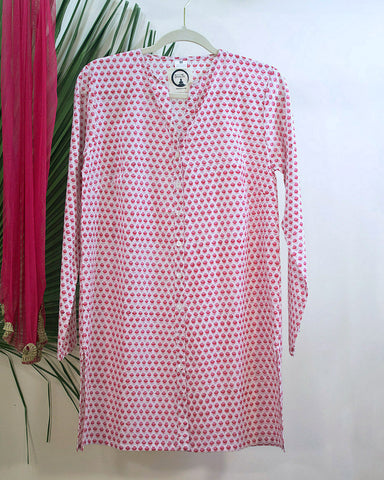 Pink Blossoms Organic Cotton Tunic