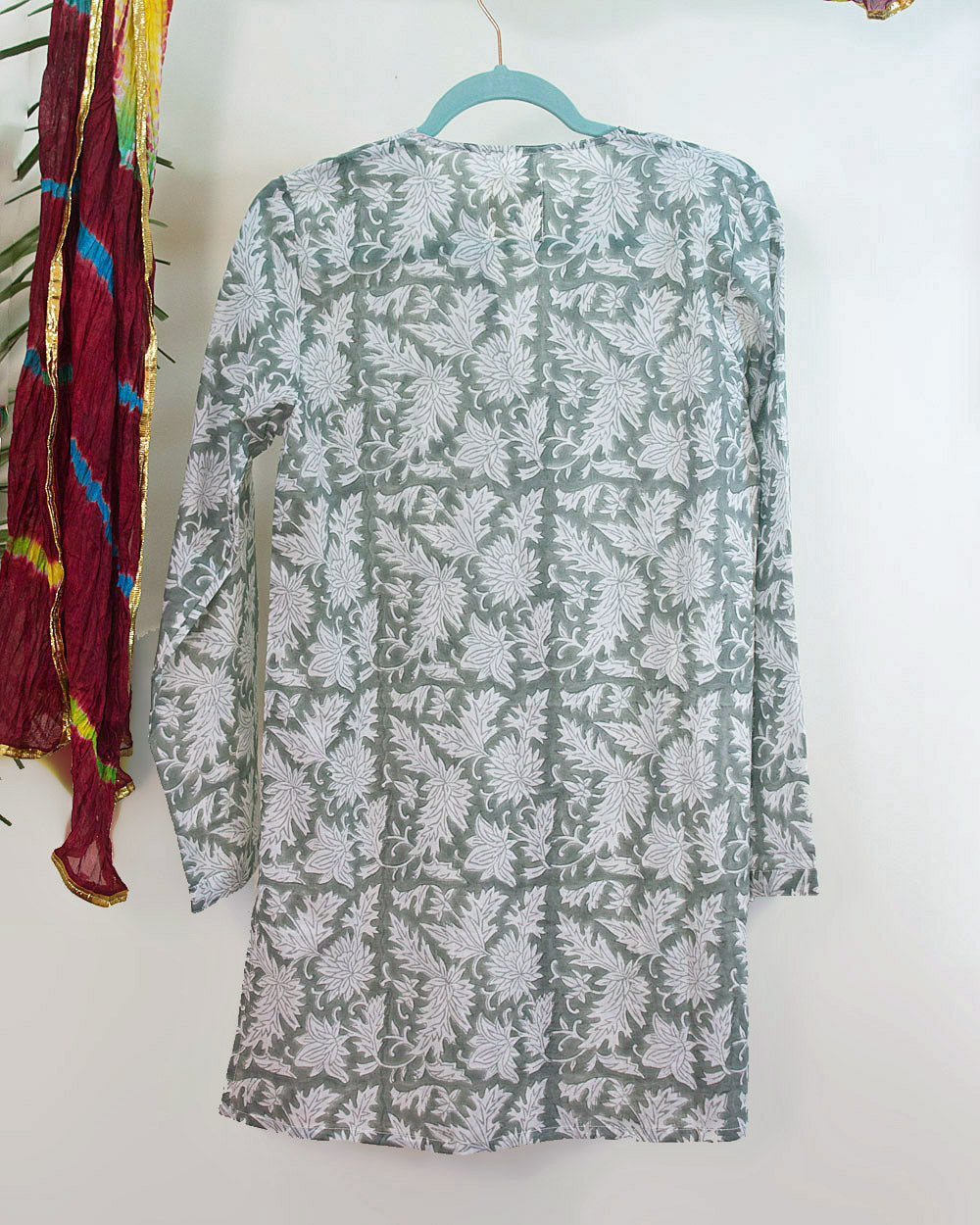 Sage and White Lilies Organic Cotton Tunic