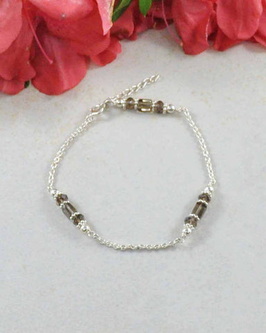 Positivity Smoky Quartz Sterling Silver Bracelet